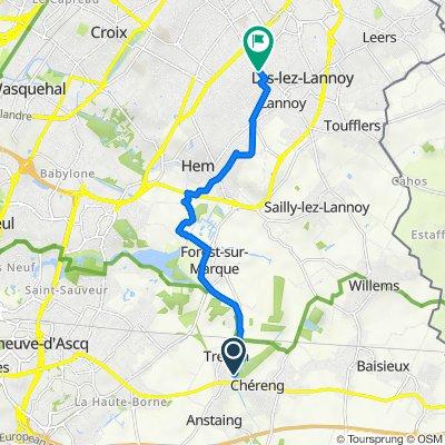 Itinéraire vers 55–63 Rue Jouffroy, Lys-lez-Lannoy