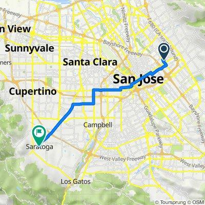 Magellan Avenue 98, San Jose to Douglass Lane 10661, Saratoga