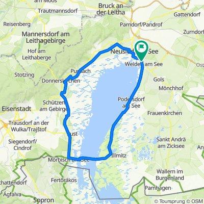 B51 59, Gemeinde Weiden am See nach Doktor-Johann-Wurditsch-Gasse 2, Mörbisch am See