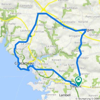 TREGUNC CONCARNEAU EN BOUCLE 27 KMS