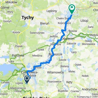 Do Gajówki 18, Czechowice-Dziedzice do Unnamed Road, Imielin