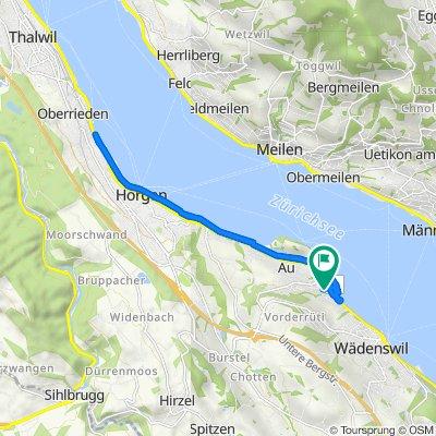 Zopfstrasse 16, Au ZH nach Zopfstrasse 22, Au ZH