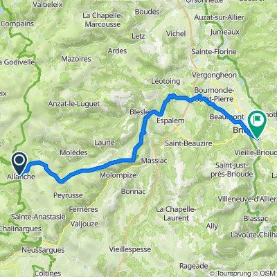 Allanches Brioude 54 km