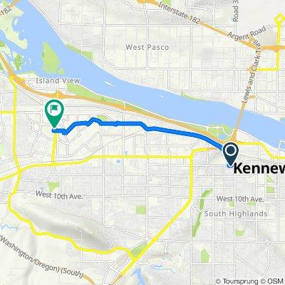 1505 W Kennewick Ave, Kennewick to 1101 N Columbia Center Blvd, Kennewick