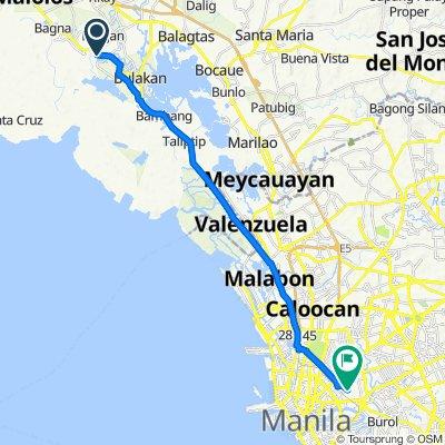 Bulacan 214, Malolos to Samar Street 1005, Maynila