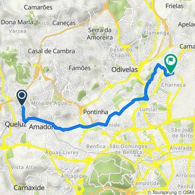 De Estrada Águas Livres 86, Amadora a Rua Hermínio da Palma Inácio, Lisboa