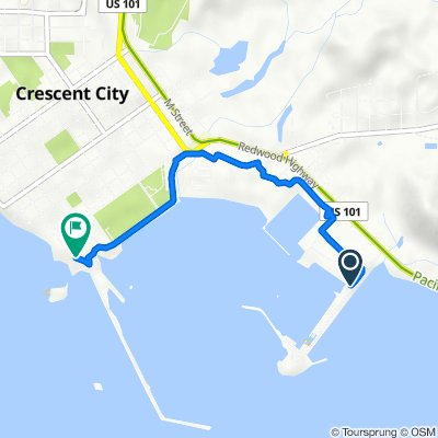 120 Anchor Way, Crescent City to 250 Lighthouse Way, Crescent City
