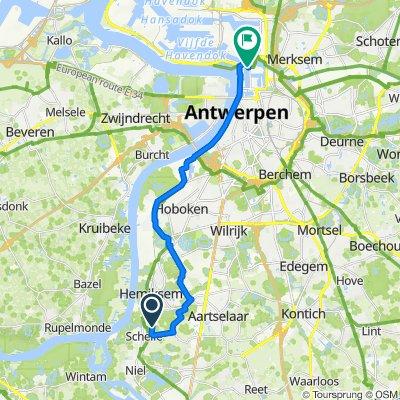 Frans Cretenlaan 82, Schelle naar Kattendijkdok Oostkaai 41, Antwerpen