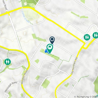 Route from 66 Parsonage Road, Castle Hill