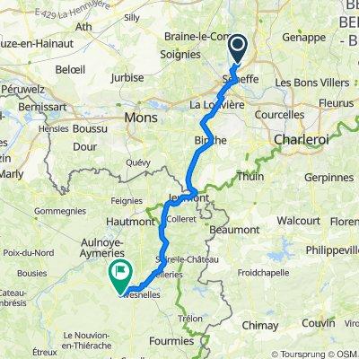 Chemin de Boulouffe 1, Seneffe naar 9B Route de Cartignies, Haut-Lieu