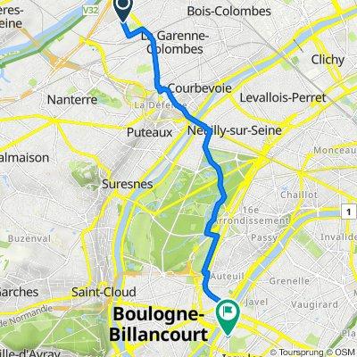 De Rue des Gros Grès 267, Colombes à Boulevard Gallieni 22, Issy-les-Moulineaux