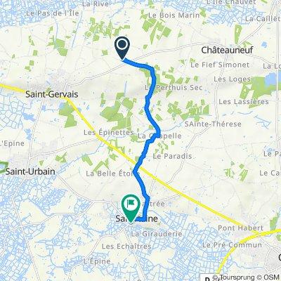 De 370 Chemin de la Fresnerie, Saint-Gervais à 9A Rue du Pélican, Sallertaine