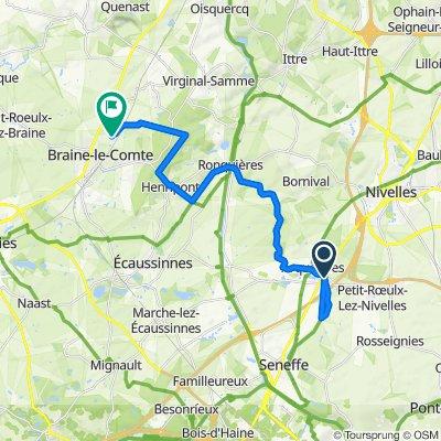 De Rue de la Samme 26, Seneffe à Rue du Buissot 6, Braine-le-Comte