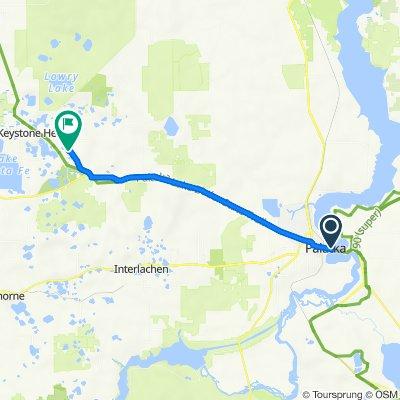 N First St, Palatka to Palatka-Lake Butler State Trail, Keystone Heights