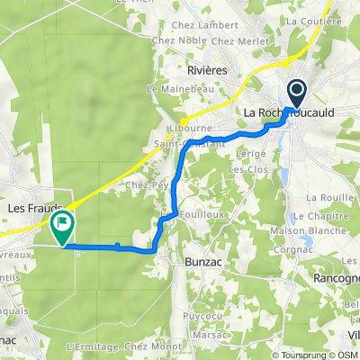 De 2bis Boulevard du 8 Mai, La Rochefoucauld à D110, Mornac