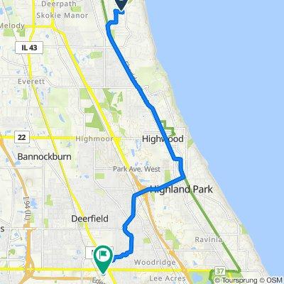 555 N Sheridan Rd, Lake Forest to 405 Lake Cook Rd, Deerfield