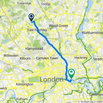 127 Etchingham Park Road, London to Tower Bridge Road, London