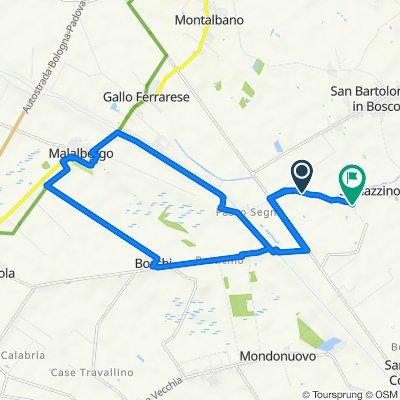 Da Via della Cembalina 215–239, Ferrara a Via del Taglione 3C, Ferrara