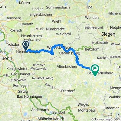 Hennef - Nistertal - obtimiert 85km