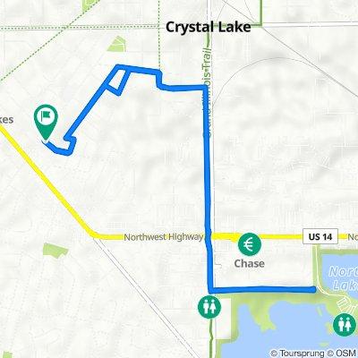 300 Union St, Crystal Lake to 300 Union St, Crystal Lake