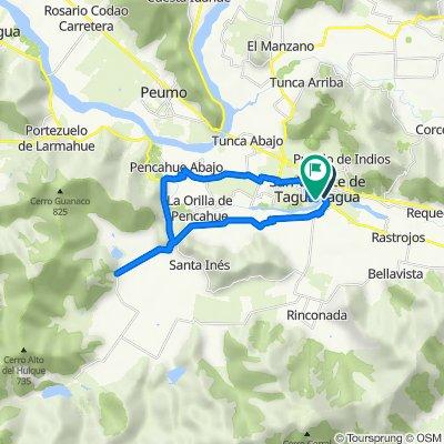 De I-90-H 504, San Vicente de Taguatagua a Lago Panguipulli 705, San Vicente de Taguatagua