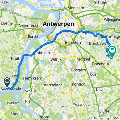 Alois Roelandtslaan 18, Kruibeke to Vremdesesteenweg 260, Boechout