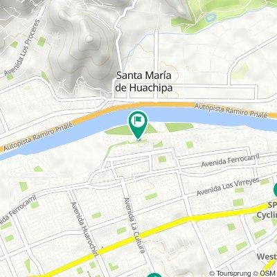 De Del Parque Norte 15011, Lima a Del Parque Norte 15011, Lima