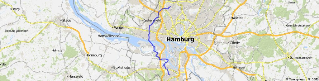 Alternativer Arbeitsweg: Über Finkenwerder mit der Fähre.