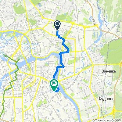 От Кондратьевский проспект 70 корпус 1, Санкт-Петербург до набережная Обводного канала 14, Санкт-Петербург
