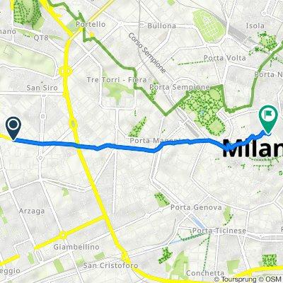 Da Piazza Melozzo da Forlì, Milano a Via Alessandro Manzoni 16, Milano