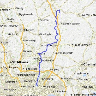 Walthamstow to Abington Park Farm