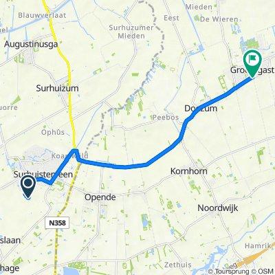 Stikker 4, Surhuisterveen naar G.P. Beukemalaan, Grootegast