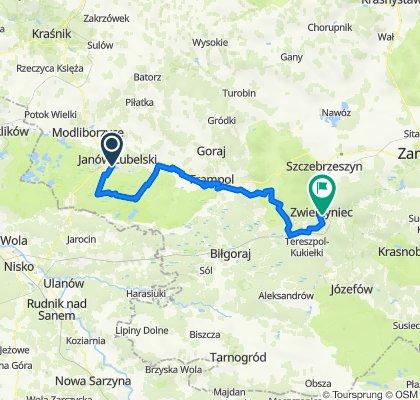 """Festiwal Turystyki Rowerowej """"Roztocze bez granic"""", dzień 1: Janów Lubelski - Zwierzyniec"""