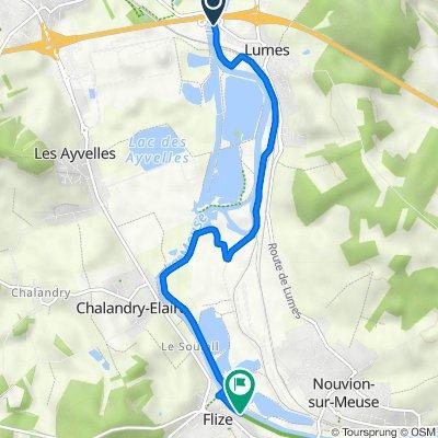 Route to 1 Rue de l'Abattoir, Flize