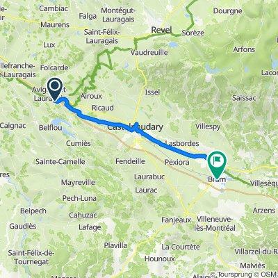 De Marbail Bas, Avignonet-Lauragais à Place Carnot, Bram