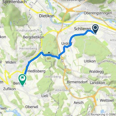 Alter Zürichweg 67.1, Schlieren nach Staldenweg 1, Berikon