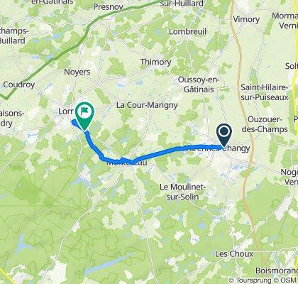 De 39 Rue d'Ouzouer, Varennes-Changy à D44, Lorris
