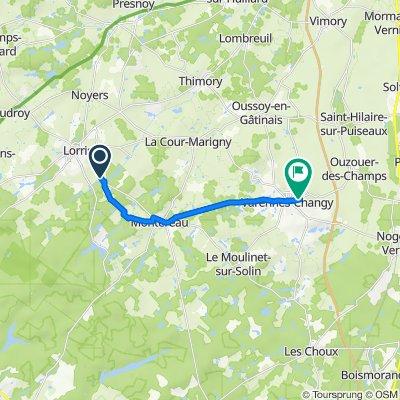 De D44, Lorris à 47 Rue d'Ouzouer, Varennes-Changy