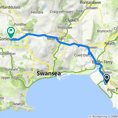 12 Baglan Bay Retail Park, Afan Way, Port Talbot to 13 Eynon St, Swansea