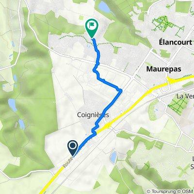 De 189 Route Nationale 10, Coignières à 1 Allée Joseph Afchain, Maurepas