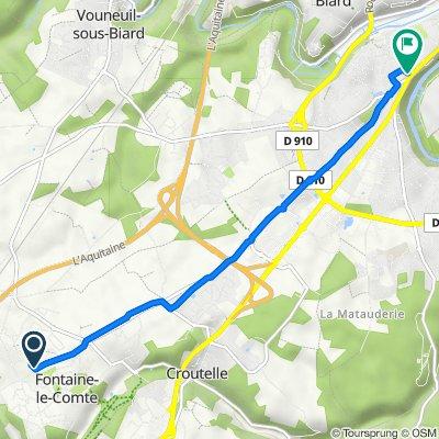De 8B Rue Antoine de Saint-Exupéry, Fontaine-le-Comte à 6 Rue des Petites Vallées, Poitiers