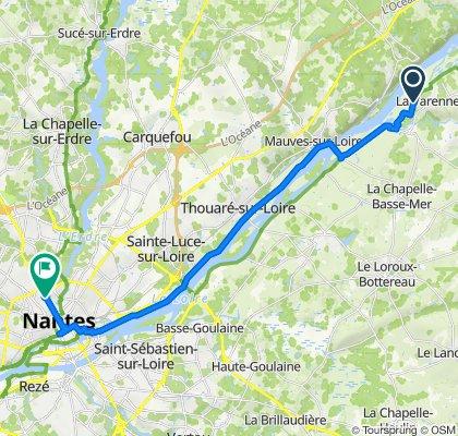 De Rue de la Loire 300, Orée-d'Anjou à Rue Paul Bellamy 139b, Nantes