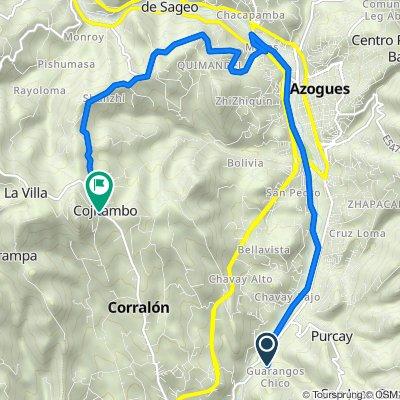 De Vía Guarangos Chico, Borrero a Via a Cojitambo