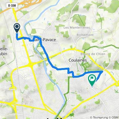 De Avenue des Frères Renault, La Chapelle-Saint-Aubin à 150 Rue de Sargé, Le Mans