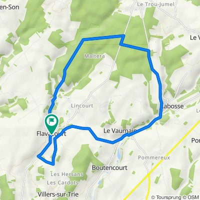 Flavacourt tour 22,5k