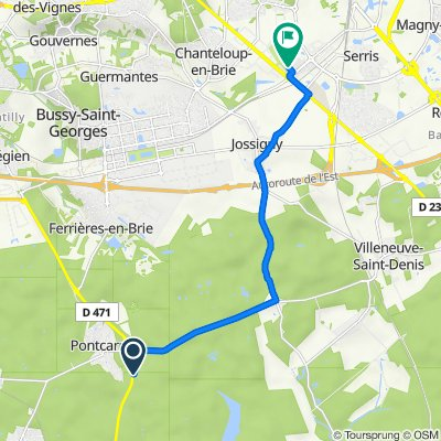 De Déviation de la Route Départementale, Pontcarré à 14 Rue de Prague, Montévrain