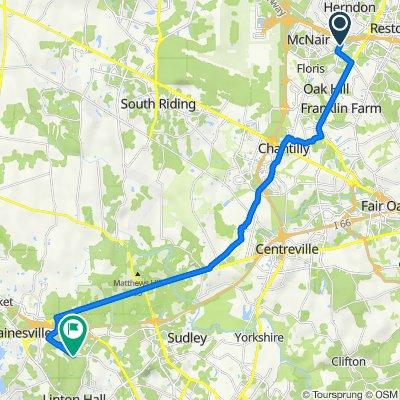 12921 Centre Park Cir, Herndon to 8050 Piney Branch Ln, Bristow