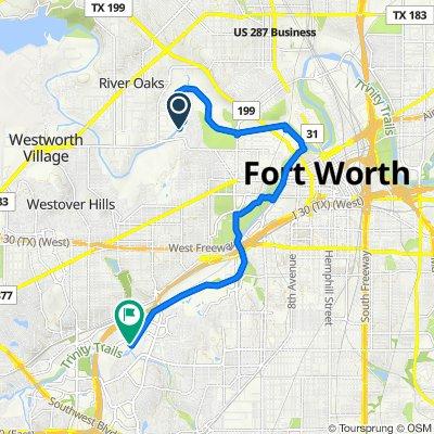 423 Rockwood Park Dr, Fort Worth to 4801 Edwards Ranch Rd, Fort Worth