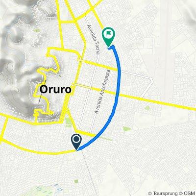 De Ruta Nacional 12, Oruro a Ruta Nacional 1, Oruro