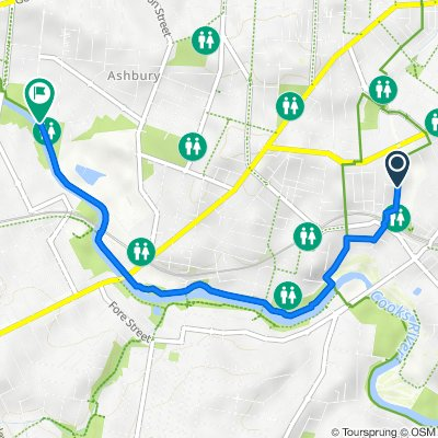 Route from 73 Hercules Street, Dulwich Hill